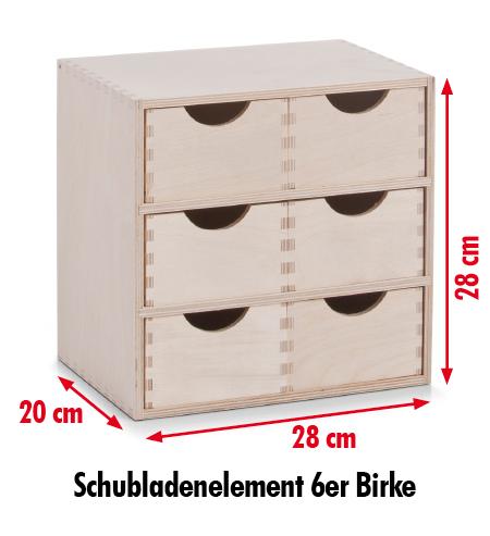 schubladenbox aufbewahrungsbox mit 6 schubladen k sten. Black Bedroom Furniture Sets. Home Design Ideas