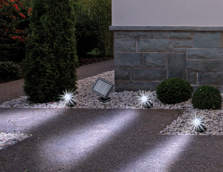 led solar gartenset gartenleuchten gartenlampen solarlampe led leuchten spot. Black Bedroom Furniture Sets. Home Design Ideas