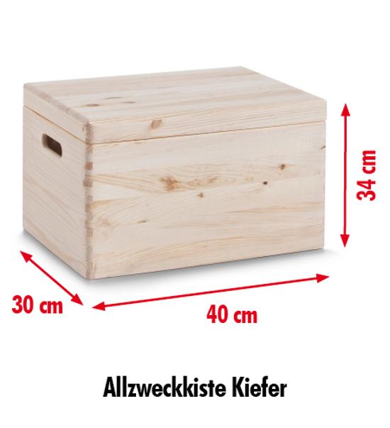 zeller allzweckkiste m deckel 40x30x34 nadelholz. Black Bedroom Furniture Sets. Home Design Ideas