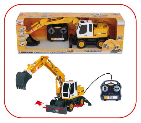 bagger kranwagen radlader baufahrzeuge spielzeug kabel ferngesteuert ebay. Black Bedroom Furniture Sets. Home Design Ideas