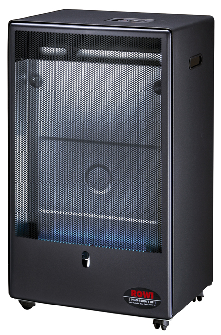rowi gas heizofen katalytofen gasheizer blue flame 4200 watt mit thermostat 4012294205371 ebay. Black Bedroom Furniture Sets. Home Design Ideas