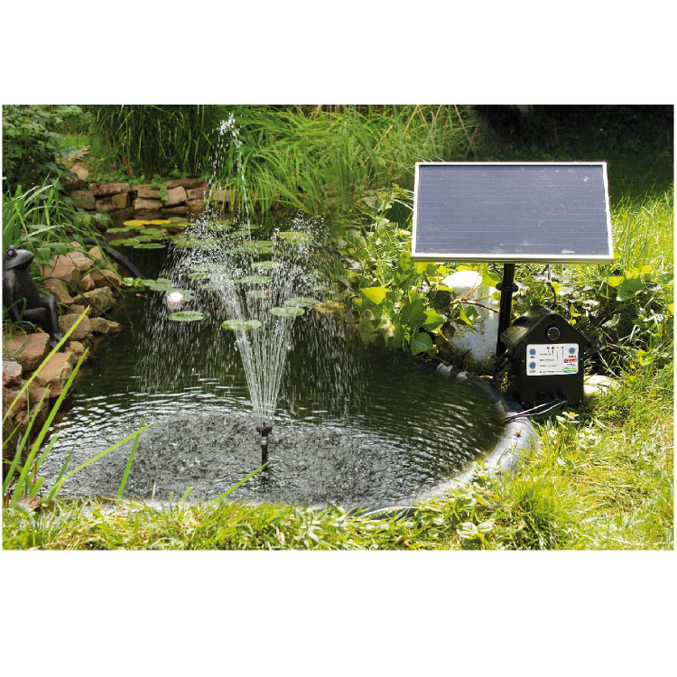 Solarpumpe teich quadrat w solarpumpe wasserspiel for Gartenteich ohne pumpe
