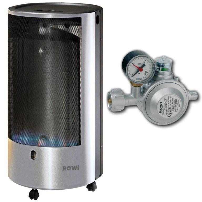 rowi gas heizofen katalytofen gasheizer 4200 watt gasheizung mit thermostat ebay. Black Bedroom Furniture Sets. Home Design Ideas