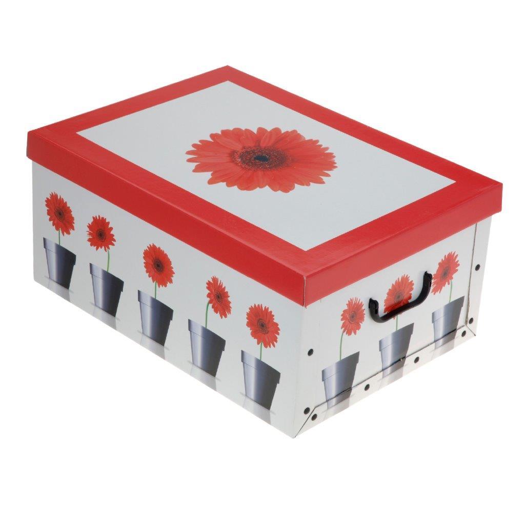 aufbewahrungsbox m deckel allzweckkiste pappbox karton box verschiedene designs ebay. Black Bedroom Furniture Sets. Home Design Ideas