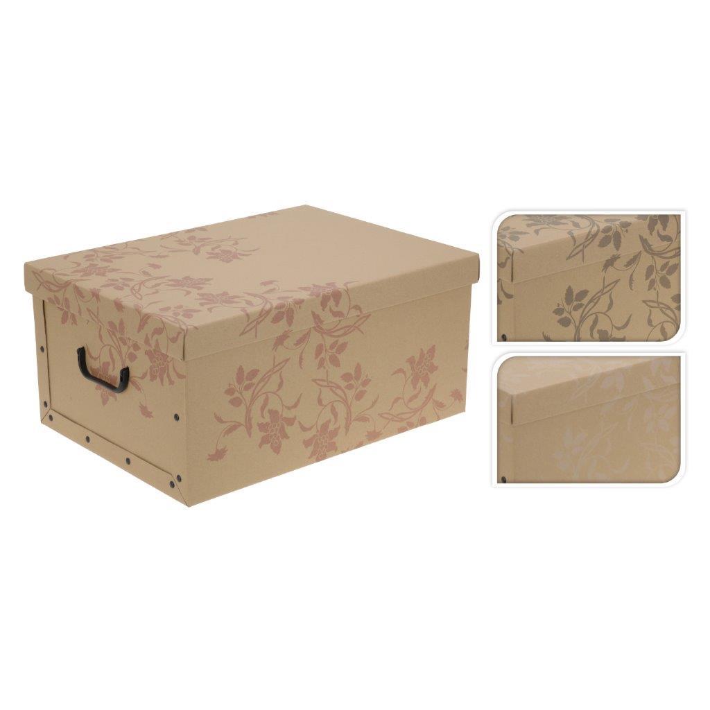 aufbewahrungsbox zum aufklappen aus pappe mit deckel und. Black Bedroom Furniture Sets. Home Design Ideas