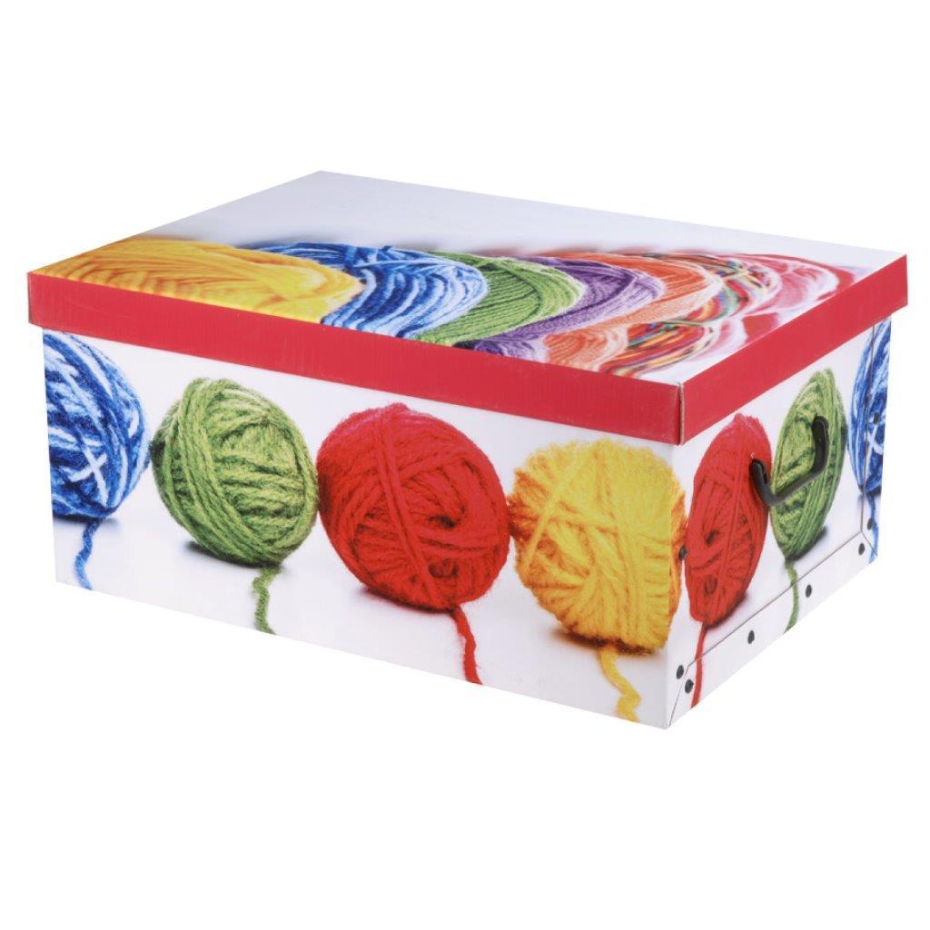 aufbewahrungsbox zum aufklappen aus pappe mit deckel und griffen klappbox kiste ebay. Black Bedroom Furniture Sets. Home Design Ideas