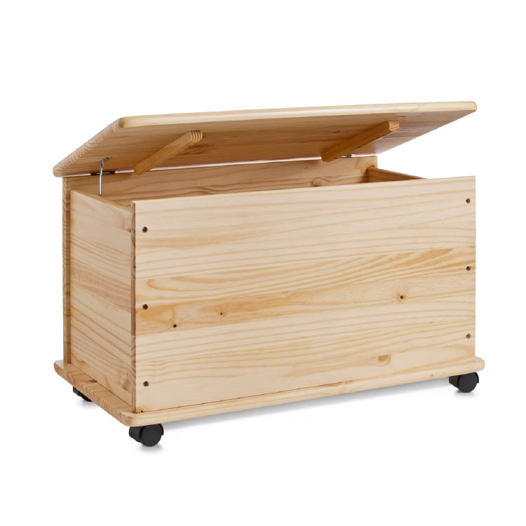 zeller spielzeugkiste m rollen spielzeugtruhe holztruhe kiefer 73x39 5x45 cm ebay. Black Bedroom Furniture Sets. Home Design Ideas
