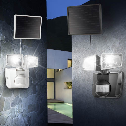 led solar wandleuchte mit bewegungsmelder solarleuchte solarstrahler solarlampe ebay. Black Bedroom Furniture Sets. Home Design Ideas