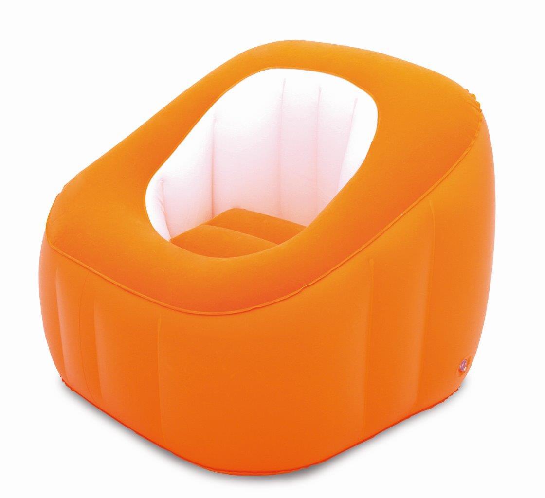 aufblasbarer luftsessel 74x74x64cm camping sessel strandstuhl garten poolsessel ebay. Black Bedroom Furniture Sets. Home Design Ideas