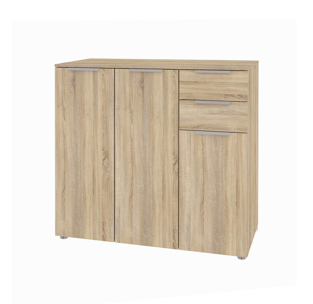 kommode bliss eiche struktur nachbildung schrank sideboard t ren schubladen neu ebay. Black Bedroom Furniture Sets. Home Design Ideas