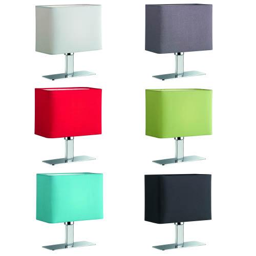 tischleuchte lampe stehlampe tischlampe nachttischlampe leuchte mit textilschirm ebay. Black Bedroom Furniture Sets. Home Design Ideas