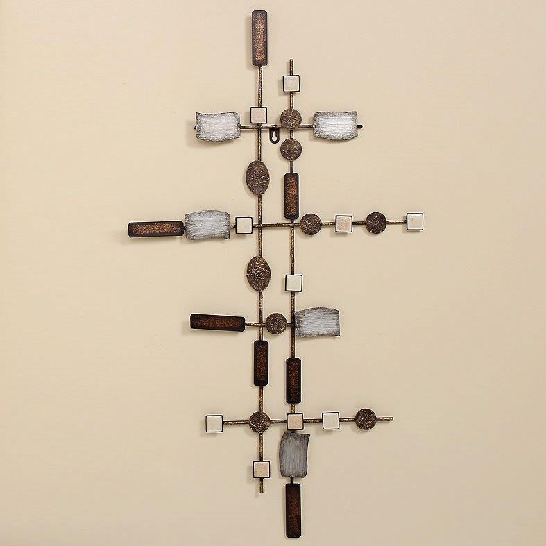 Wand objekt waka metall wandbild wandrelief dekoration for Dekoration wand